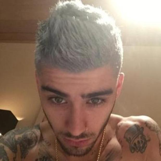 After His Gray Color And Platinum Blonde Zayn Malik Dare Pink Le