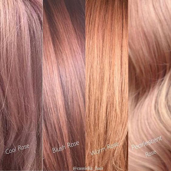 3 tendances colorations cheveux : Peachy-RoseGold-Blorange